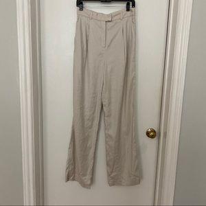 Aritzia linen Sadiki pants trousers matte pearl 6